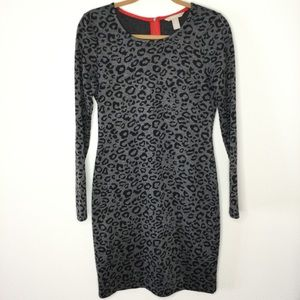 Banana Republic Leopard Print Sheath Dress Size 6
